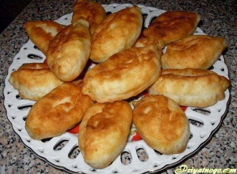 Тесто для жареных пирожков на сухих дрожжах рецепт с фото