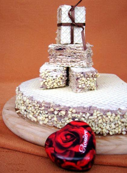 Торт из вафельных коржей рецепт с фото в домашних условиях