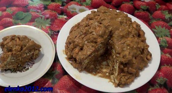 Торт муравейник рецепт без выпечки из печенья