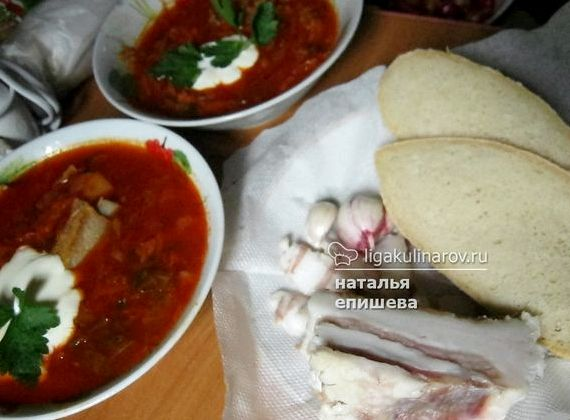 Украинский борщ с пампушками пошаговый рецепт с фото