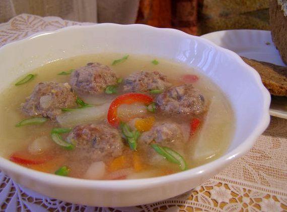 Вкусный суп с фрикадельками и вермишелью пошаговый рецепт с фото