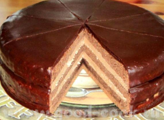 Советский торт прага