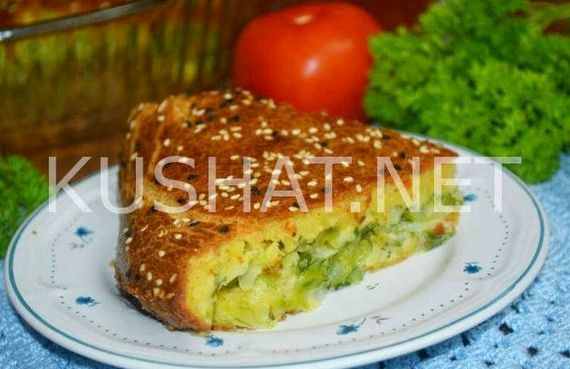 пирог с майонезом и капустой